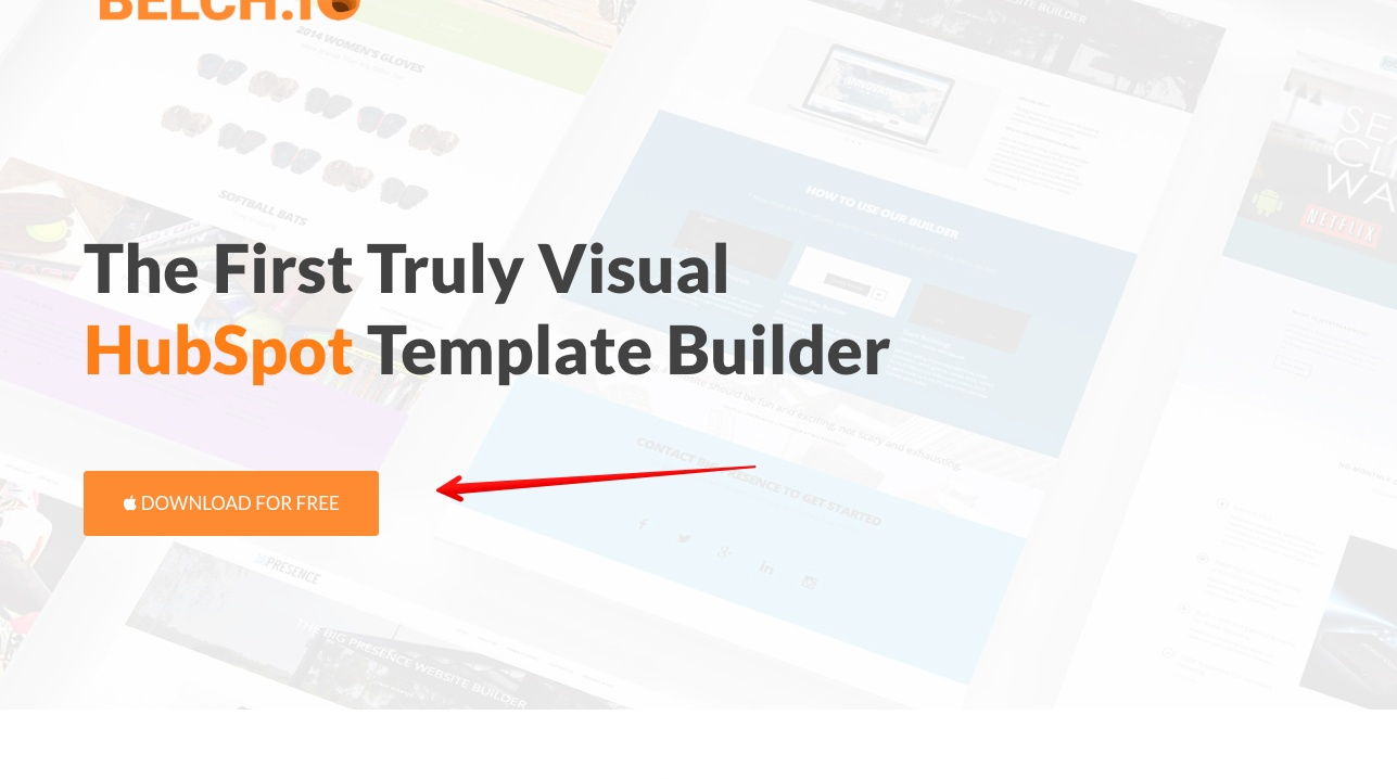 BELCH.IO | The Only Truly Visual Template Builder for HubSpot COS